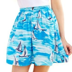 Lauren Conrad Blue Sailboat Skirt